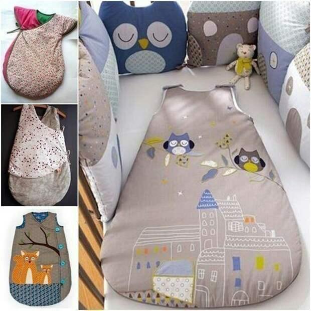 Выкройка спального мешка для малыша
