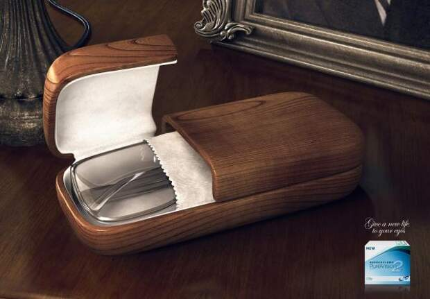 Coffins Brown Coffin, Bausch & Lomb, TBWA\Central Asia & Caucasus, Bausch & Lomb Inc., Печатная реклама