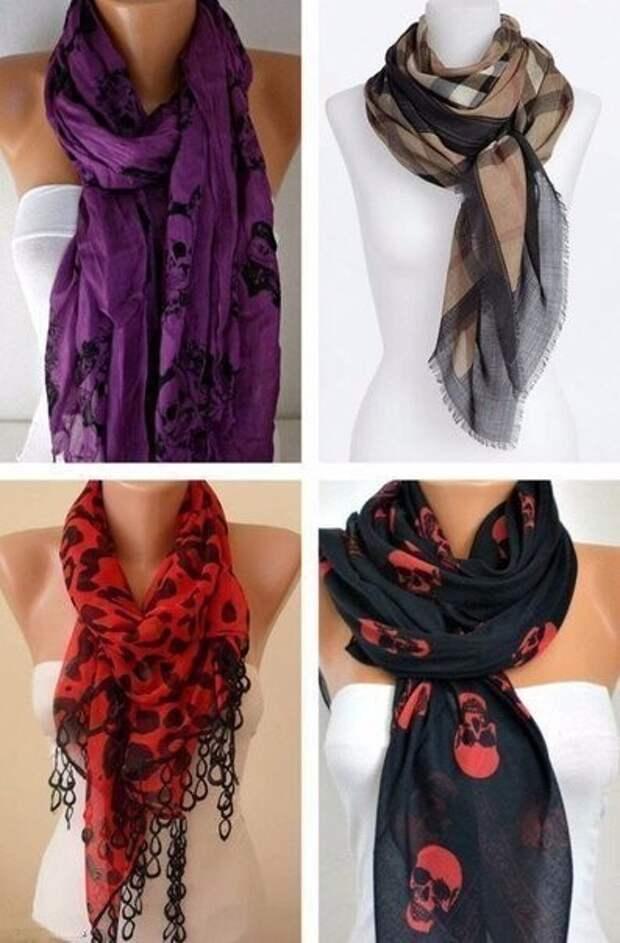 Как стильно завязать шарф. Забирай себе на стену, чтобы было всегда под рукой.