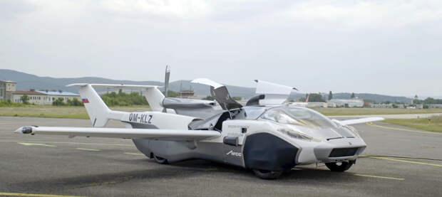 Летающий автомобиль AirCar совершил тестовый полет