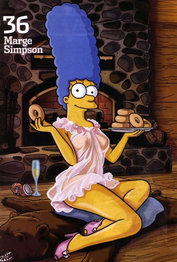 Фотосессия Мардж Симпсон для спецвыпуска журнала Playboy.