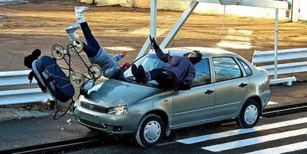 Сколько раз водители Севастополя пытались задавить пешеходов?
