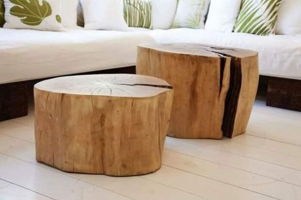 Кофейный столик из пня. \ Фото: mondodesign.it.