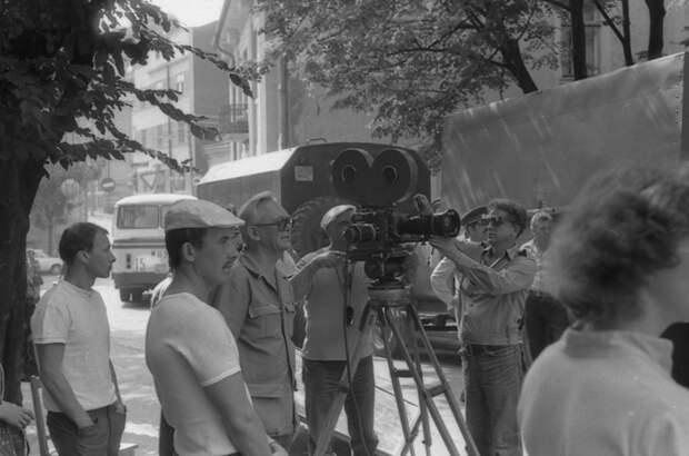 """Фотографии со съемочной площадки фильма """"Опасно для жизни""""."""