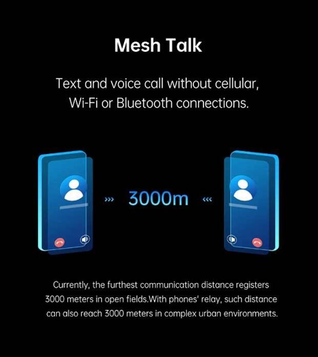 Oppo MeshTalk позволит звонить без сотовых сетей