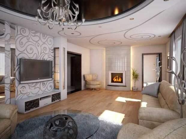 Для оформления помещения в аристократическом стиле можно использовать два или три цвета.