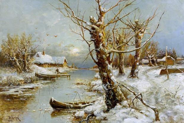 Зимний речной пейзаж (700x469, 455Kb)