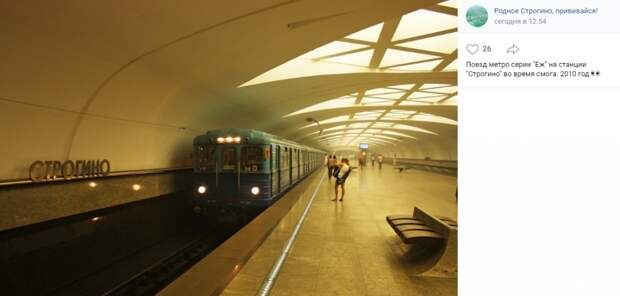 Фото дня: «Еж» на станции «Строгино»