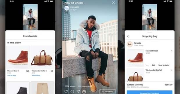 Instagram добавит shopping-функции в IGTV и Reels