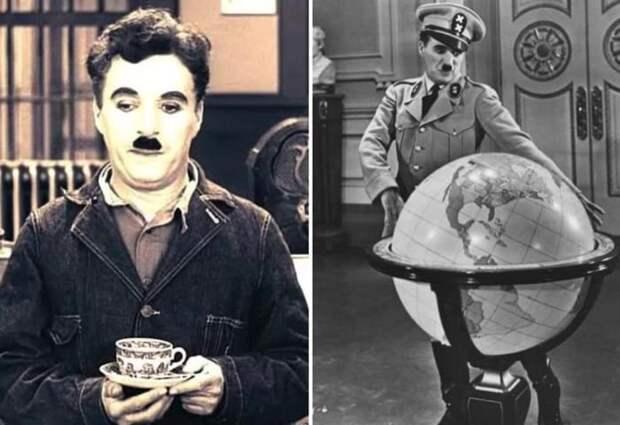 Многие обращали внимание на внешнее сходство героя Чарли Чаплина и Гитлера   Фото: kino-teatr.ru