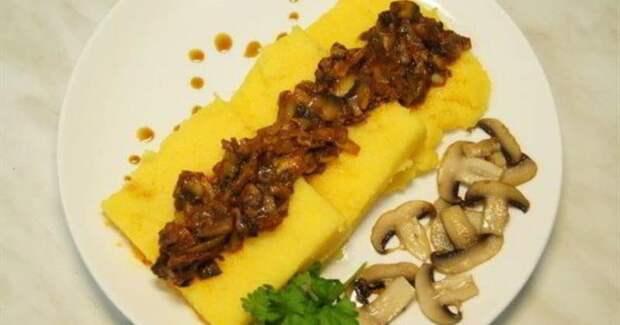 Полента с грибами. Вкусная закуска с любимыми грибами 4