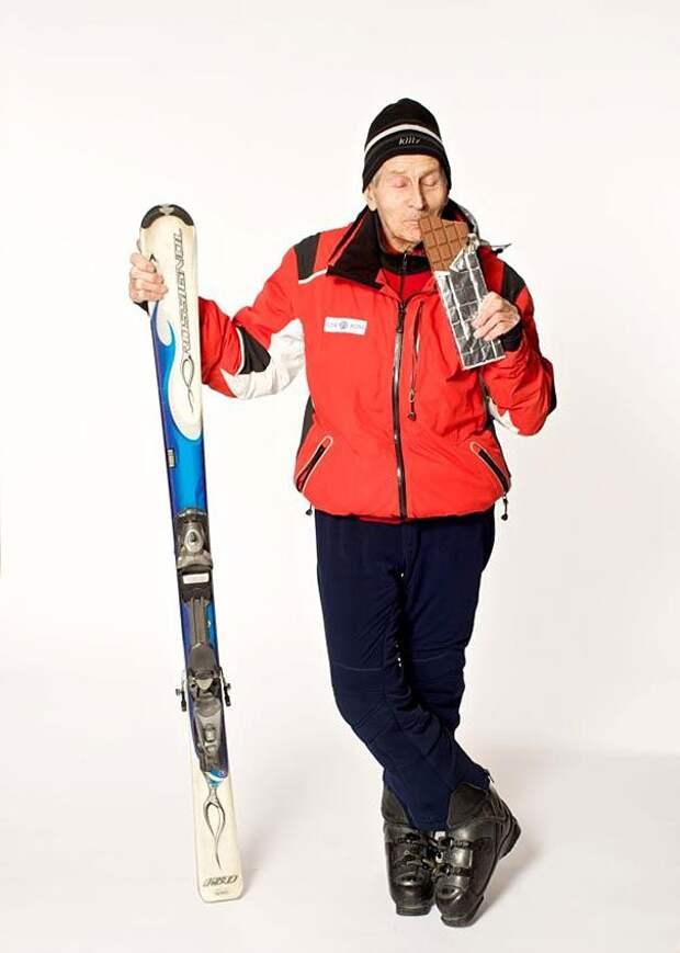 96-летний лыжник Плександр Розенталь