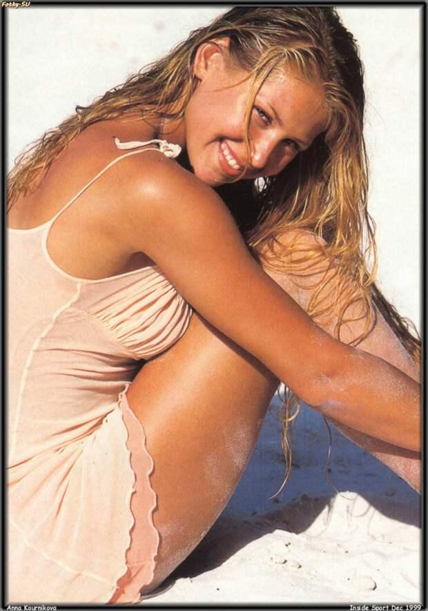 Анна Курникова в фотосессии 1999 года.