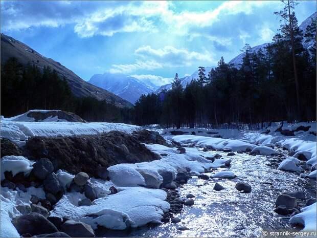 Баксанское ущелье горная река Баксан