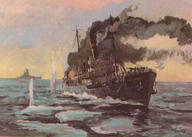 Бой ледокола «Александр Сибиряков» с крейсером «Адмирал Шеер» 25 августа 1942 года