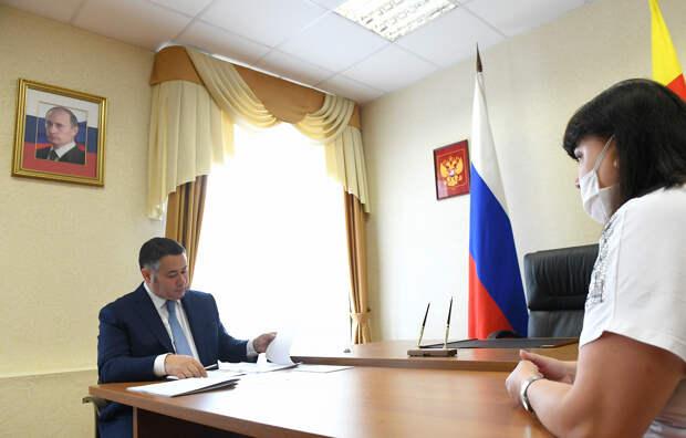 Игорь Руденя поручил провести ремонт спортивного зала в школе Зубцовского района