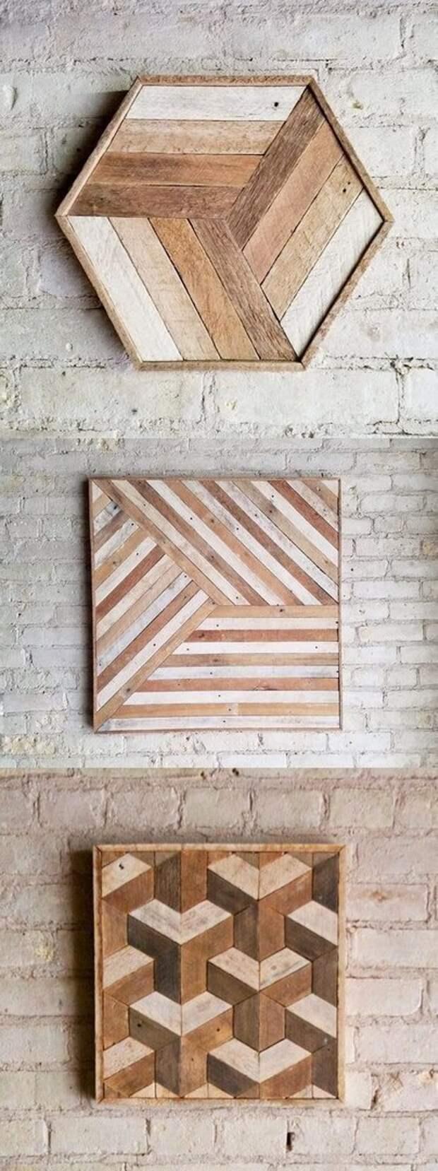 Оптические иллюзии из дерева (подборка)