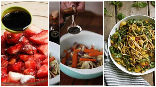 """12. Добавляйте к вашим блюдам бальзамический уксус (""""бальзамик"""") кулинария, повар от бога, приготовление еды, секреты, хитрости на кухне."""