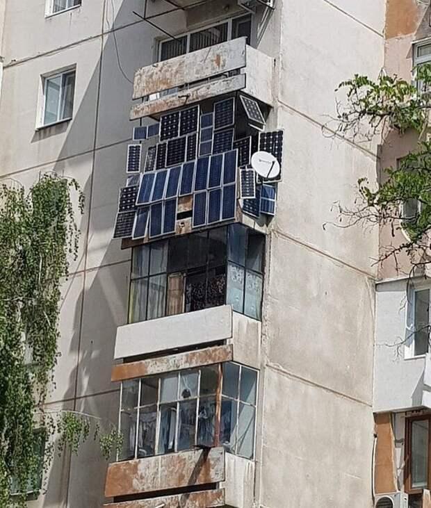 Зато экономично балконы, крутость. архитектура, строительство, фасад