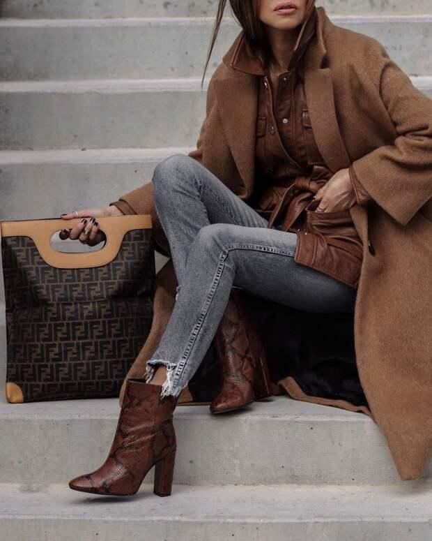 Осенние образы в коричневом цвете: 12 стильных идей для изысканных леди