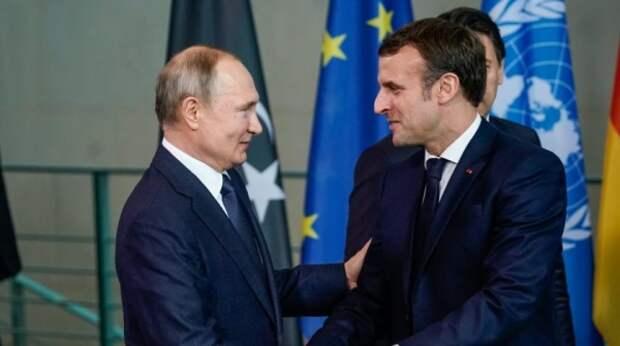 После встречи с Зеленским Макрон поговорит с Путиным