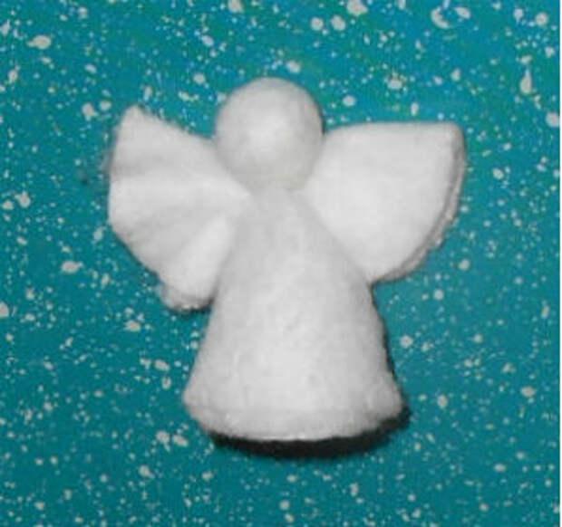 Ангел из ватного диска