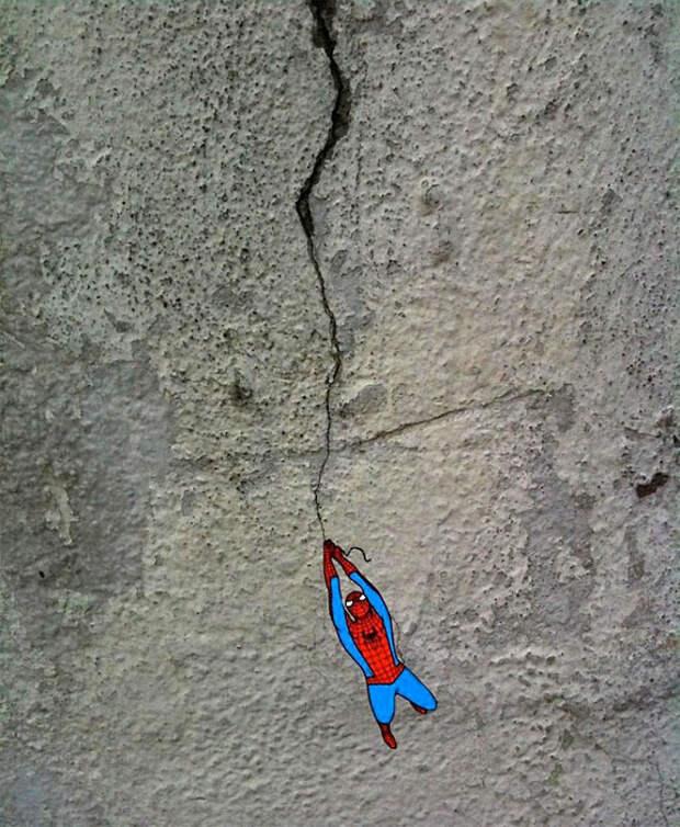 Человек-паук в граффити из Франкфурта, Германия