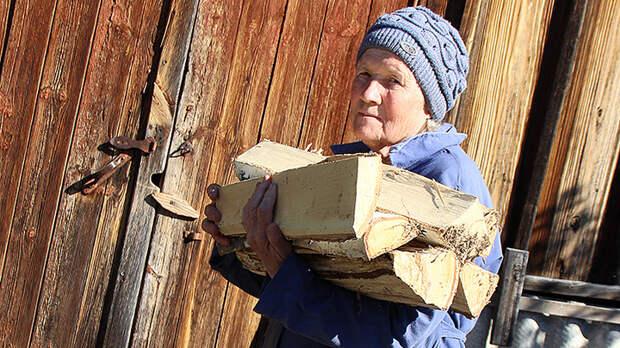 Трубы нет, но вы держитесь: Пожаловавшейся Путину пенсионерке вместо газа дали дрова