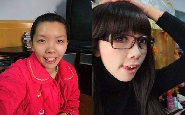Невероятные преображения! 18 девушек-азиаток до и после макияжа