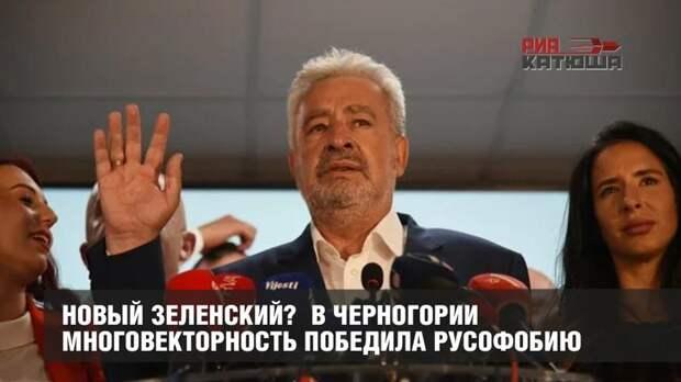 Новый Зеленский? В Черногории многовекторность победила русофобию