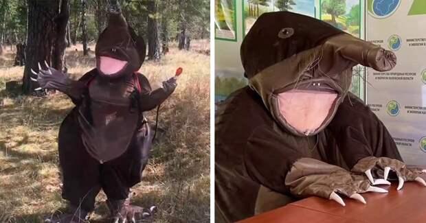 Знакомьтесь, выхухоль Хохуля – маскот калужского Министерства природы