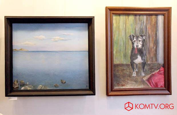 Коктебельские пейзажи, четвероногие друзья – одна из граней творчества Наталии Туркия