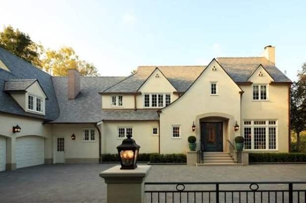 Красивый цвет фасада дома - фото штукатурка фасада