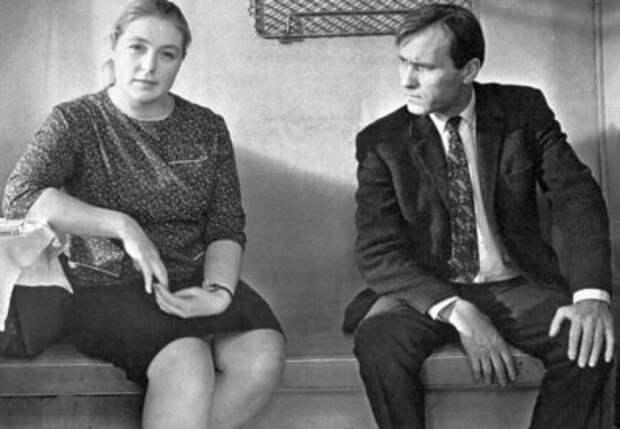 Василий Шукшин и Лидия Федосеева. / Фото: www.livejournal.com