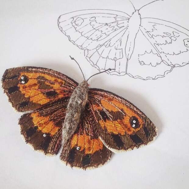 Текстильные бабочки Heather Everett