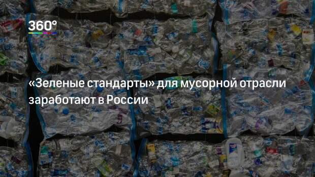 «Зеленые стандарты» для мусорной отрасли заработают в России