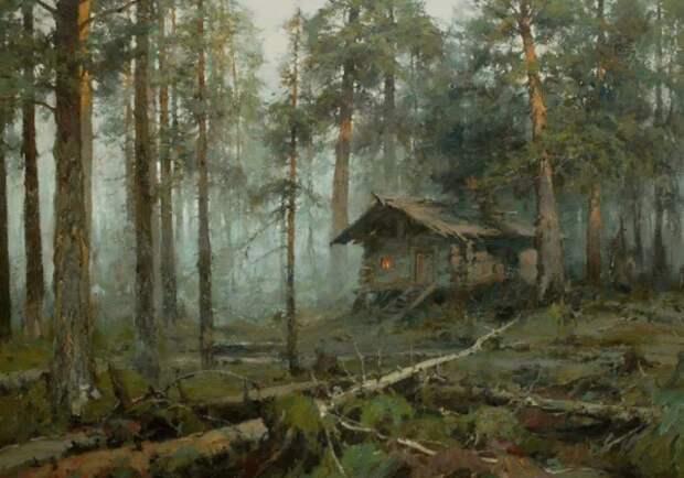 """Ю.Васендин """"Рассвет в лесу"""""""