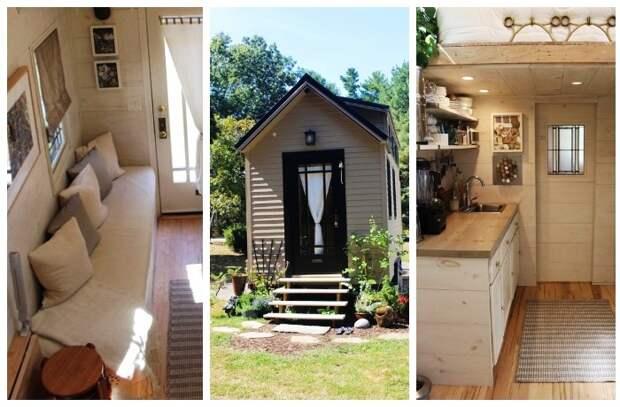 В домике создали все необходимые зоны для комфортной жизни всех членов семьи.