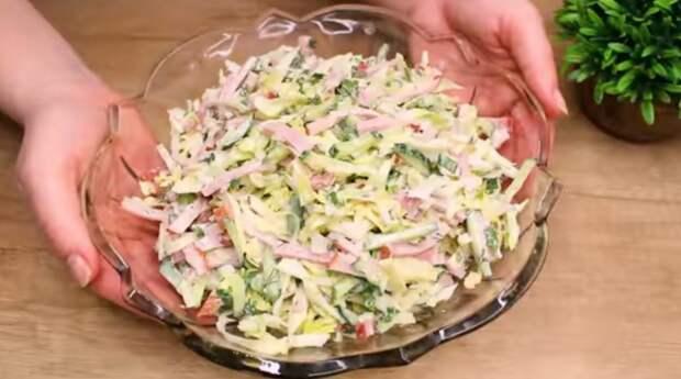 Легкий летний салат за 5 минут! Никогда не устаю есть этот салат