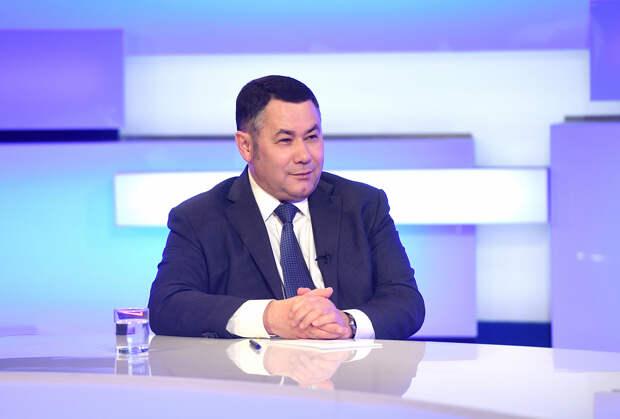 Игорь Руденя в прямом эфире расскажет о ситуации в Тверской области