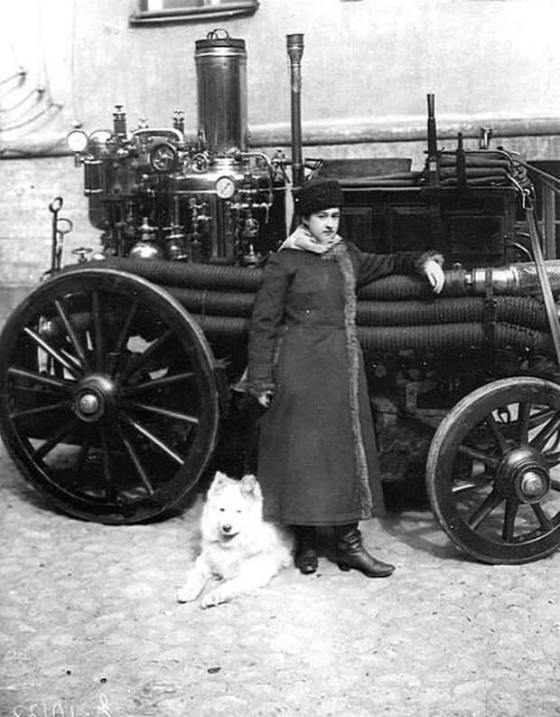 Первая женщина-пожарный Российской Империи Мария Алексеевна Ермолова. Санкт-Петербург, 1910 год. Весь Мир, история, фотографии