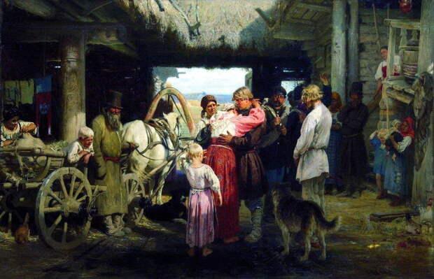 Илья Репин «Проводы новобранца» (1879).