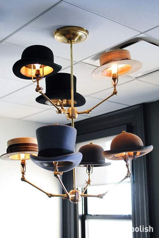 Светильники из шляп