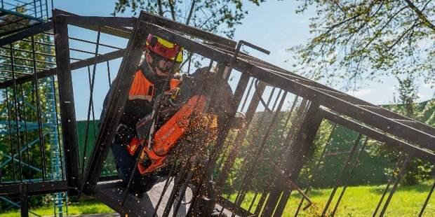 В Пожарно-спасательном центре определили лучшего спасателя
