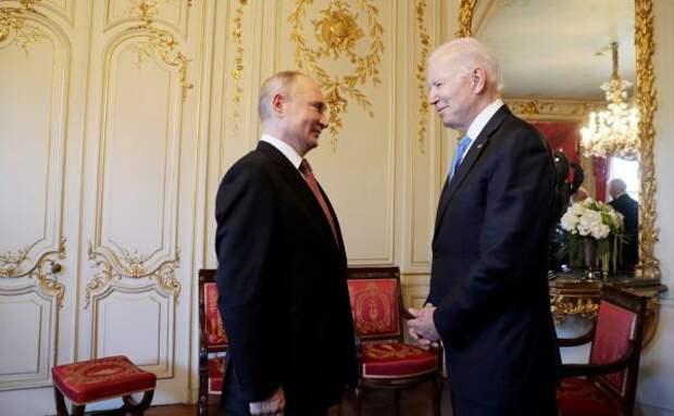 Теперь врасширенном составе: Путин иБайден продолжают переговоры