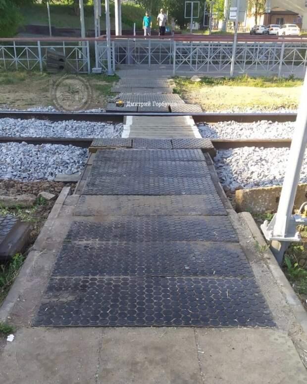 Переход через железнодорожные пути в Марьиной роще отремонтировали