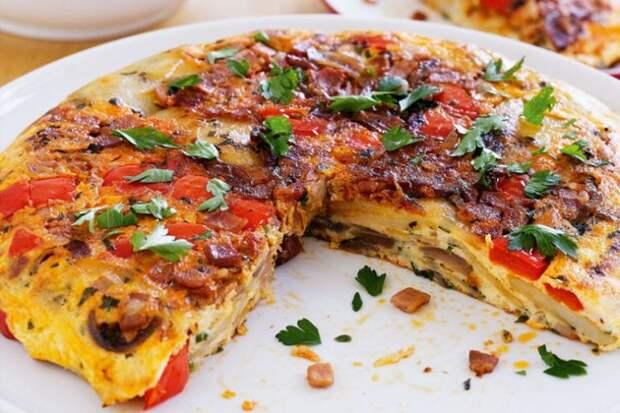 Испанский омлет-пирог: готовим на обед и ужин