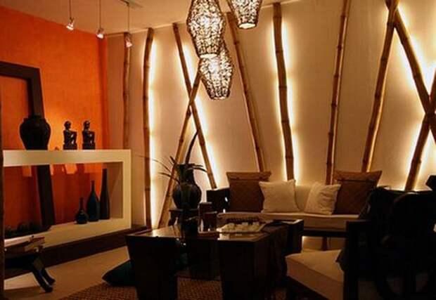 бамбук на стене