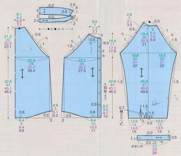 Выкройка блузки реглан