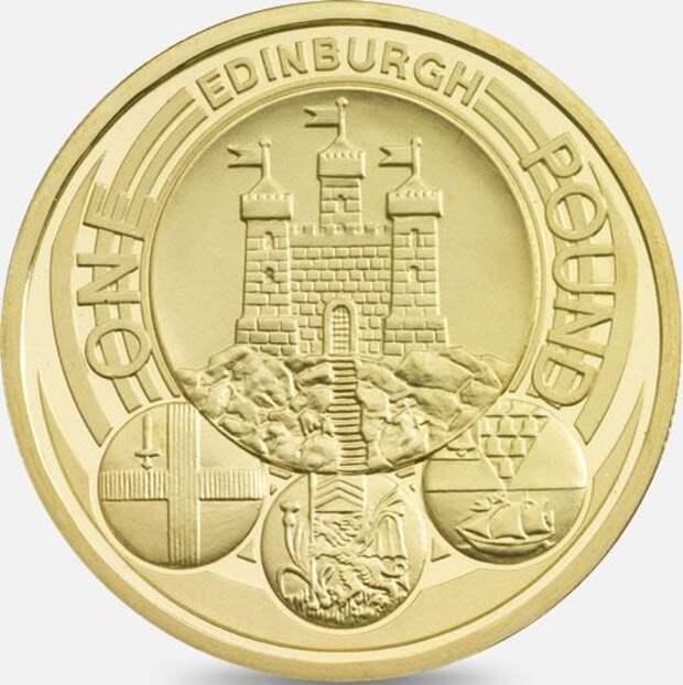 Британская однофунтовая монета